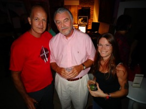 Dave Little (left) and Abbie with Carter's father, Ken, at the Kessler Theater on Sept 6, 2012.